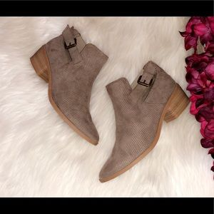DOLVE VITA Perforated Taupe Ankle Booties
